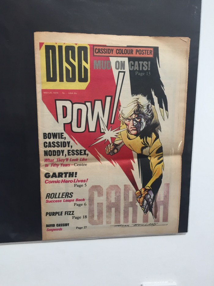 A copy of DISC pop newspaper, DISC, published in 1974 - featuring a cover by Frank Bellamy. From the Peter Hansen Collection. For more about this title and Frank's work for it, visit the Frank Bellamy Check List