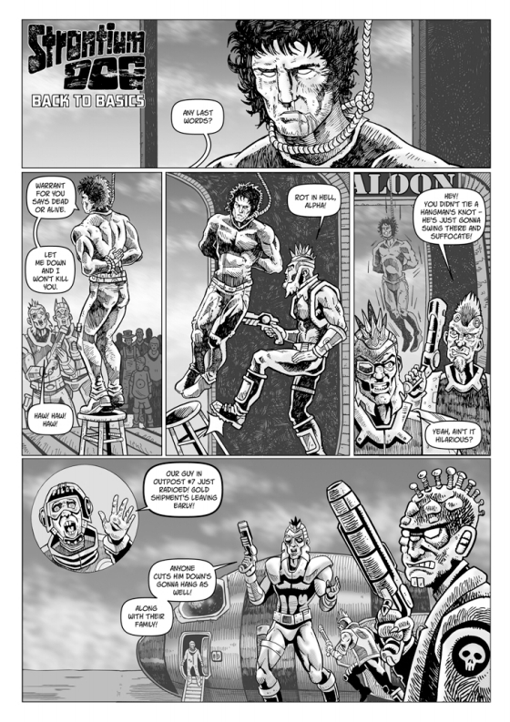 """Strontium Dog – Back To Basics"" by writer Daniel Whiston and artist David Broughton"