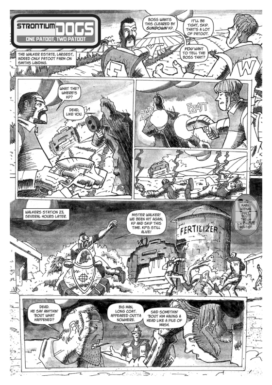 Strontium Dogs - Spud Murphy- One Patoot, Two Patoot by writer Mark Keenan and artist Scott Twells. Letters by Bolt-01