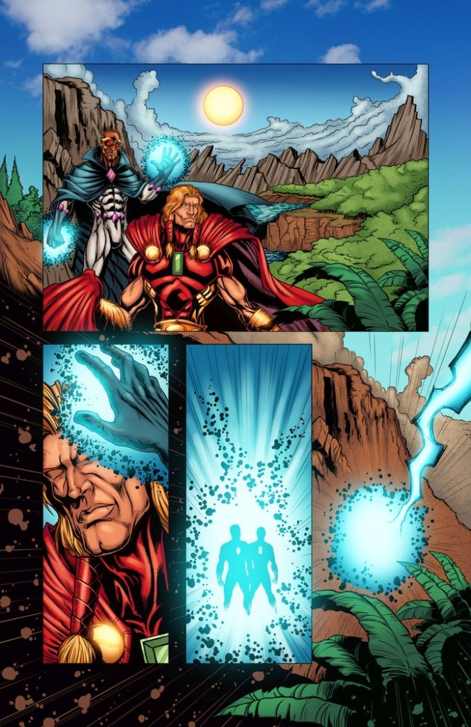 """Facets - Genesis - """"Revelations"""", written by Brian Hawkins, art by Kevin Macdougall, coloured byGuilherme Lindemberg Mendes, lettered by Mindy Lopkin"""
