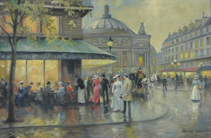Opera Square, painting by Roland Davies