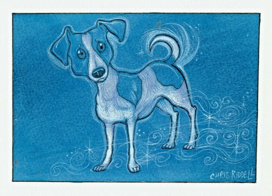 Patronus on a Postcard by Chris Riddell