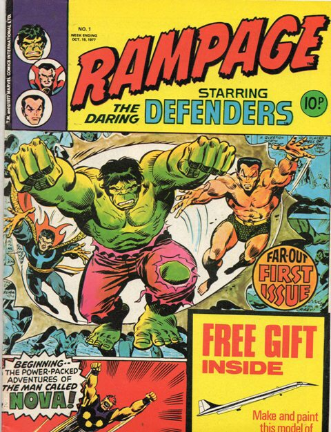 Rampage #1 from Marvel UK, launched in October 1977