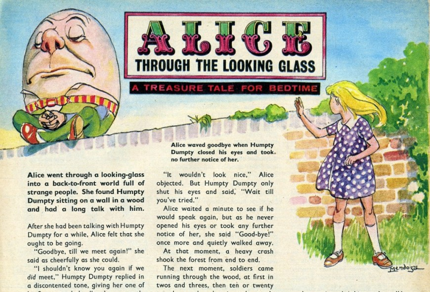 Alice Through the Looking Glass - art by Phllip Mendoza, for Treasure