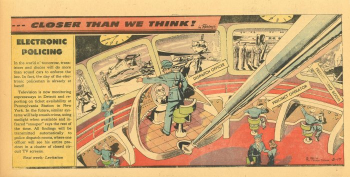 """""""Closer Than We Think!"""" by Arthur Radebaugh - Electronic Policing"""