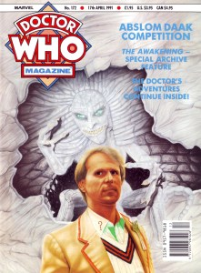 The cover of Doctor Who Magazine Issue 172, art by Pete Wallbank, published in March 1991