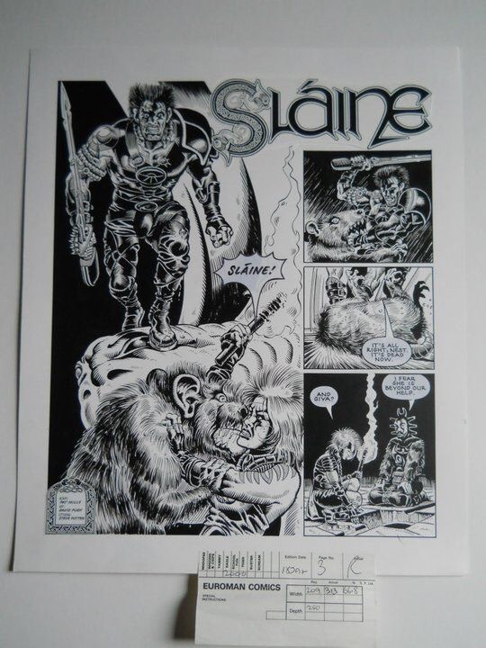"""Slaine"" art by David Pugh"
