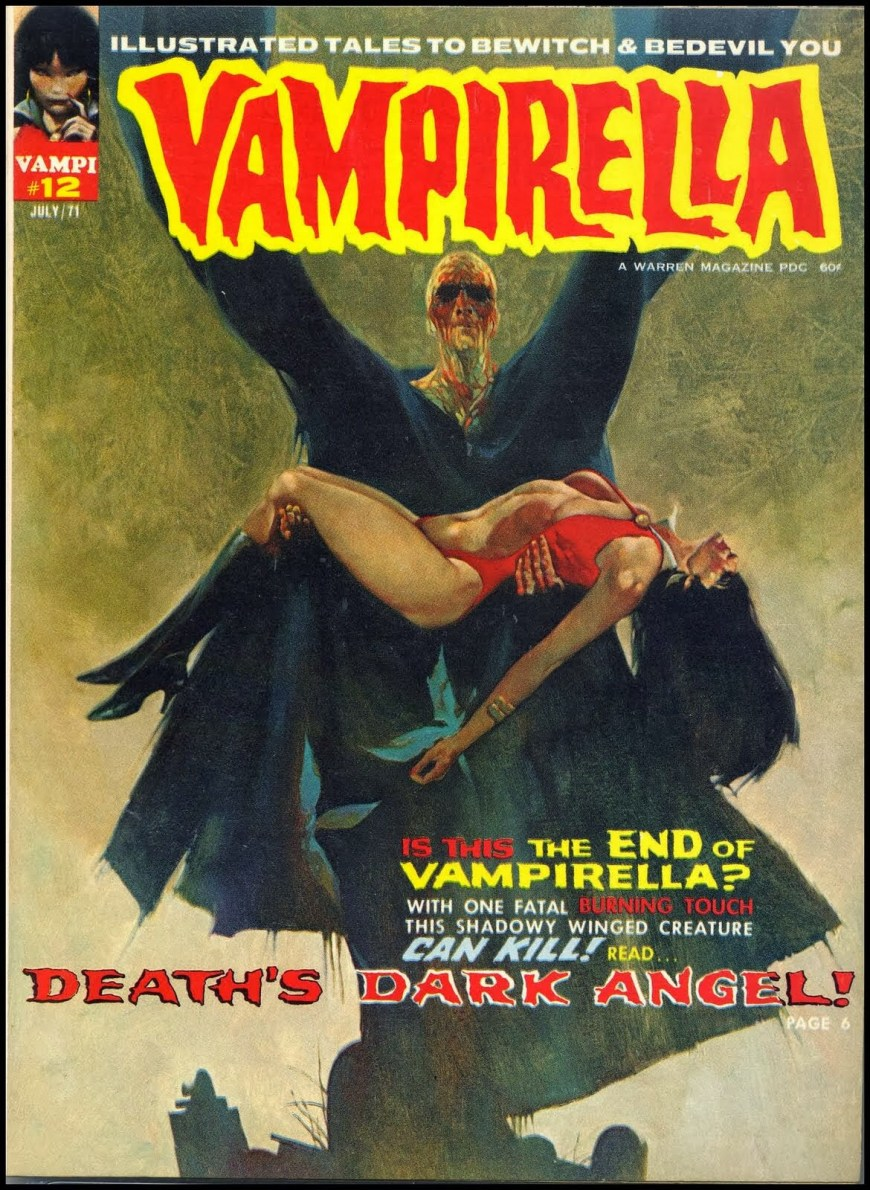 Cover for Warren Publishing's Vampirella #12 by Sanjulián