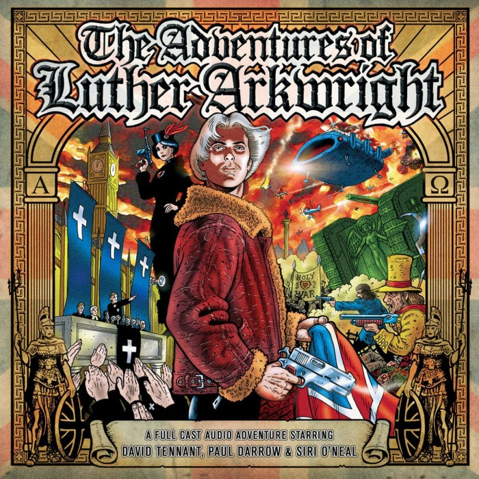 The cover of Adventures of Luther Arkwright audio drama, starring David Tennant as the multiverse-spanning warrior