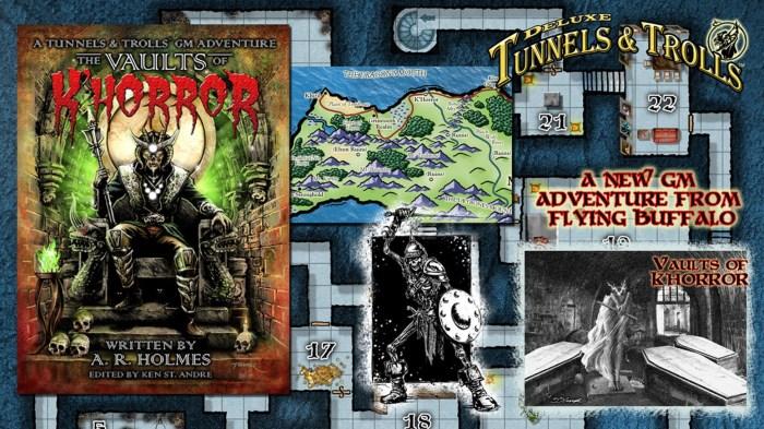 Vault of K'Horror, a new Tunnels & Trolls GM Adventure