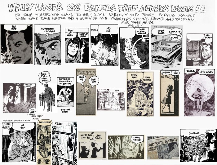 Rafael Kaynanan's version assembled from actual published Wally Wood panels, not just illustrative thumbnails.