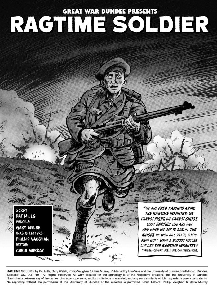 """Ragtime Soldier"" by Pat Mills with art by Gary Welsh and Phil Vaughan"