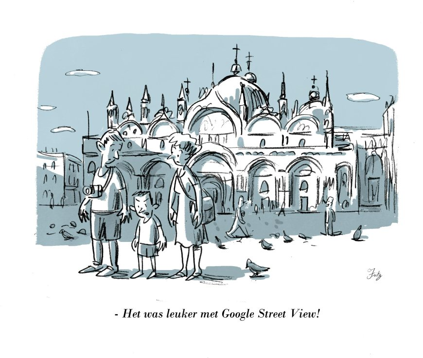 Google Street View cartoon by Joris Vermassen