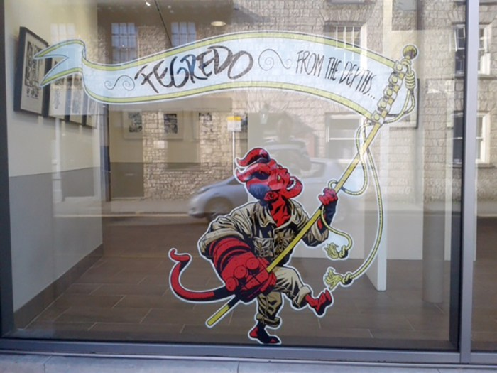 From the Depths: The Hellboy Comics of Duncan Fegredo at the Wildman Gallery, Kendal. Photo courtesy Julie Tait