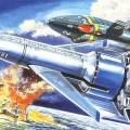 """""""Thunderbird 1"""" box art by Shigeru Komatsuzaki (1964)"""