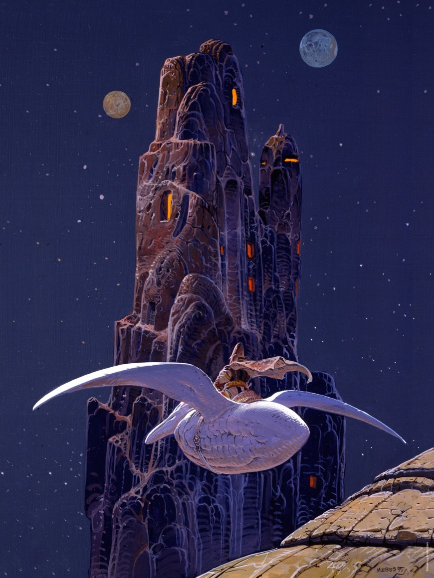 "Mœbius' ""Arzak"", 1995, gouache and acryl on paper © 2019 Mœbius production"
