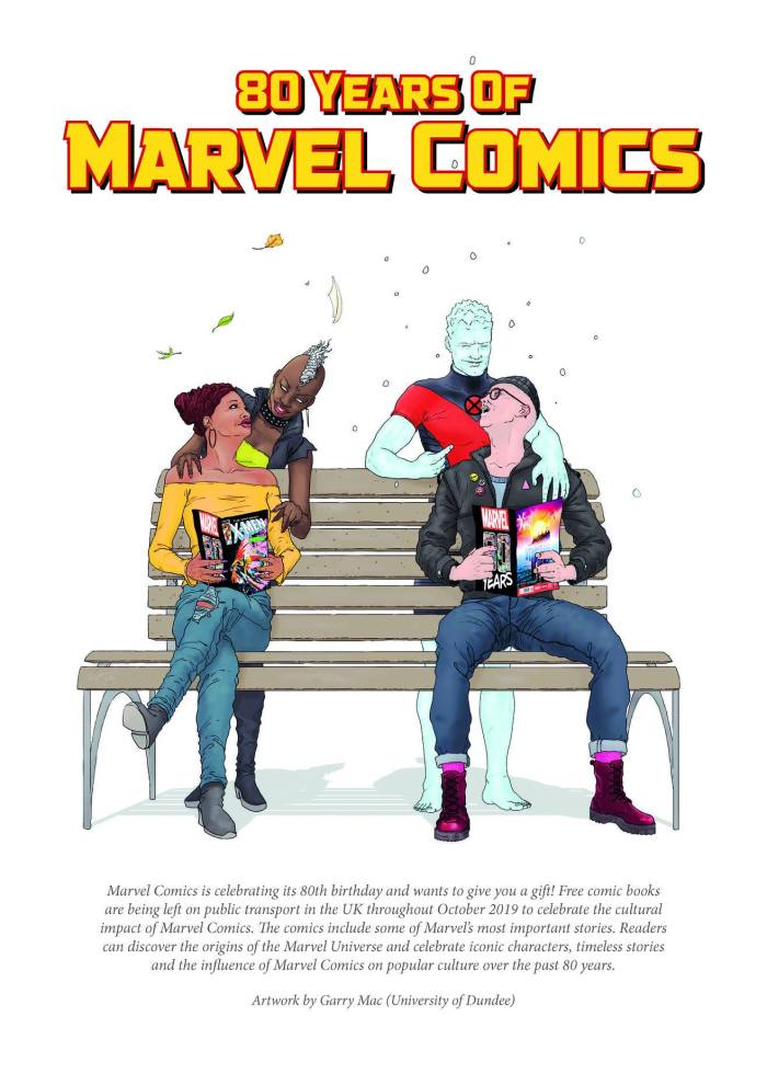 80 Years of Marvel Comics Poster by Garry Mac