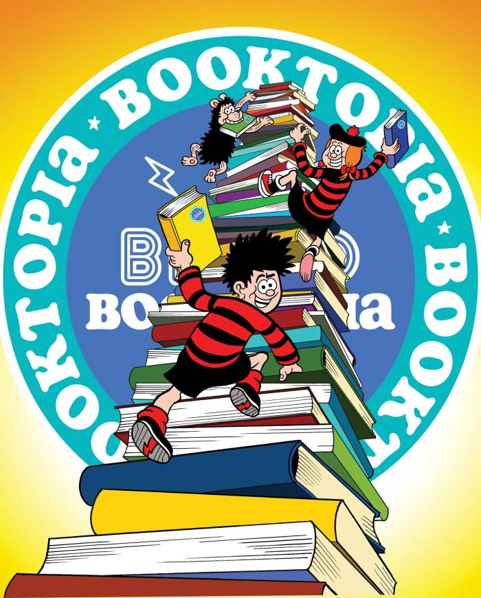 Beano Booktopia - Dennis and Minnie. Art by Nigel Parkinson