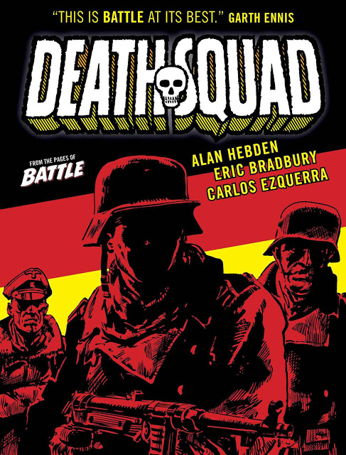 "The advance cover for ""Death Squad"" by Alan Hebden and Eric Bradbury"