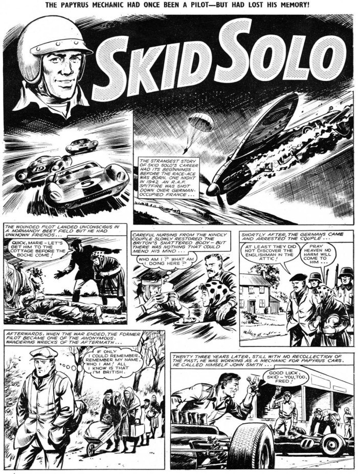 "An unusual ""Skid Solo"" episode published in Tiger in 1965. Copyright Rebellion Publishing Ltd"