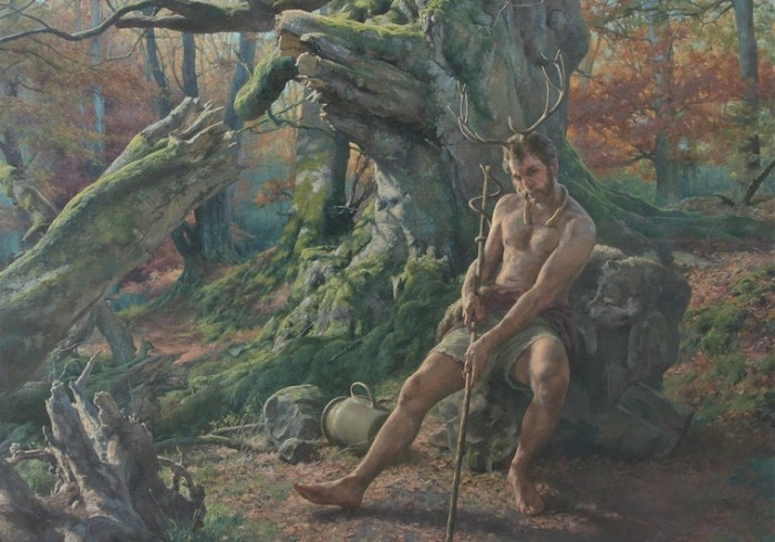 Cernunnos, 2018, oil on canvas, 85 x 105 cm