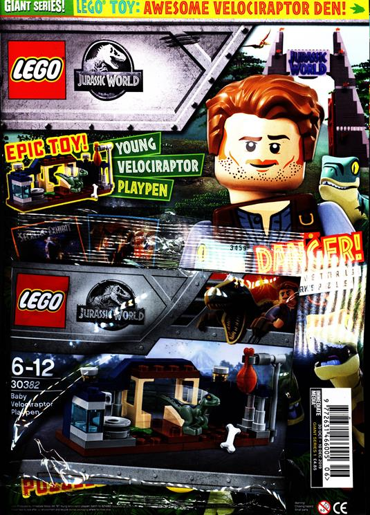 Out now, the first Lego Giant Series Magazine