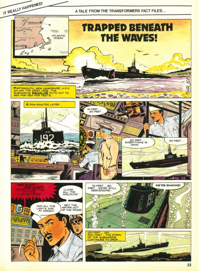 """Trapped Beneath the Waves"" ran in Marvel UK's Transformers #15 - but where was it originally published?"