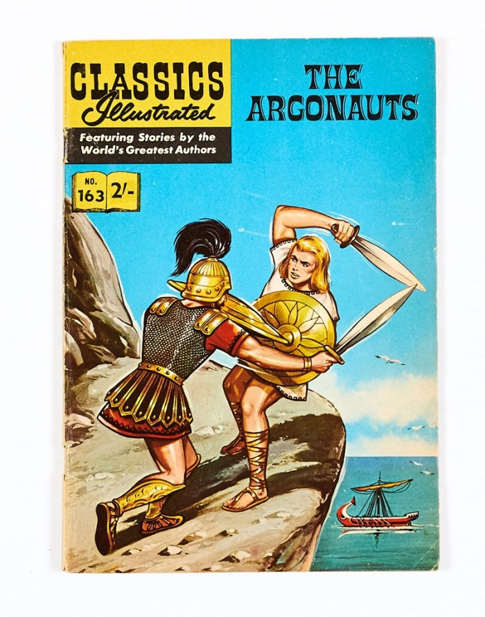 Classics Illustrated 163: The Argonauts (1950s) HRN 157 Only this scarce UK originated art edition was printed. There was no US edition
