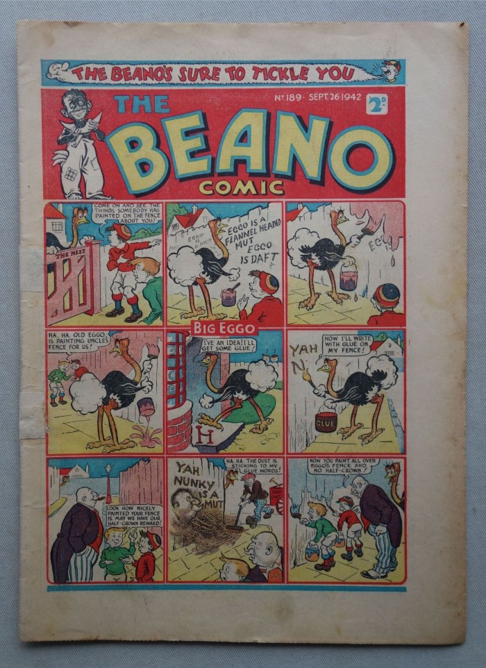 The Beano 189 - cover dated 26th September 1942