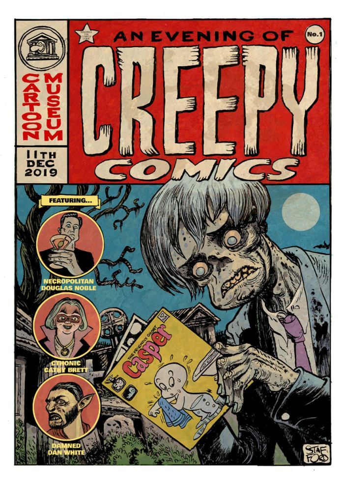 Cartoon Museum: An Evening Of Creepy Comics - poster by Mark Stafford