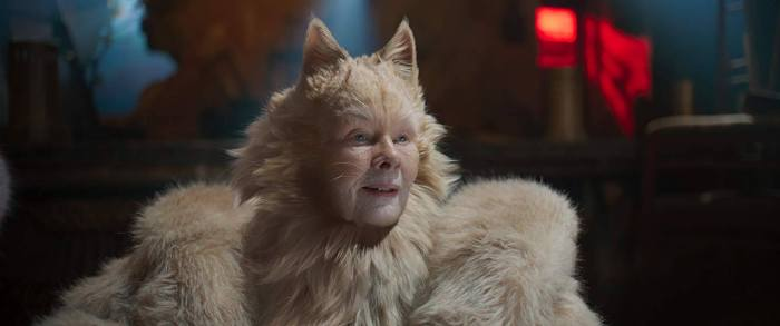 Dame Judy Dench as Deuteronomy in Cats. Image: Universal Pictures