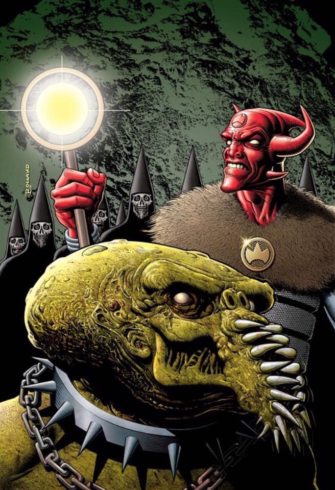 Brian Bolland's final Rok the God variant limited edition cover, in colour