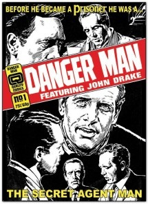 The dummy cover for a planned Danger Man collection from Quality