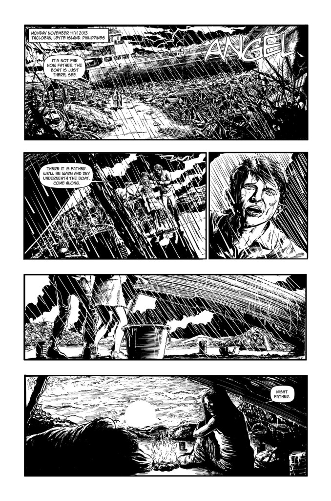 """""""Angel"""" artwork by Steven Austin, originally written by Baden James Mellonie for the Typhoon Haiyan benefit book that never happened"""