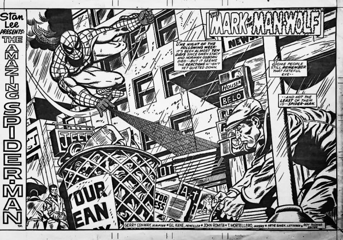 Amazing Spider-Man art by Jeff Aclin for Marvel UK, inked by Dan Adkins
