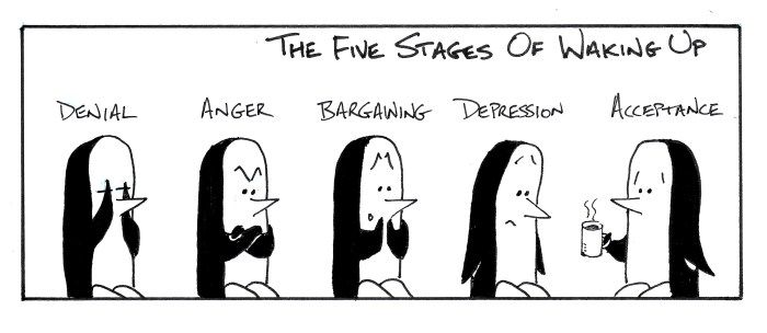 The Penned Guin - The Five Stages of Waking Up