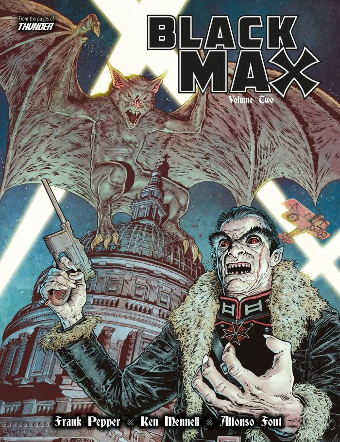 Black Max Volume Two - Cover by Chris Weston, coloured by Dylan Teague