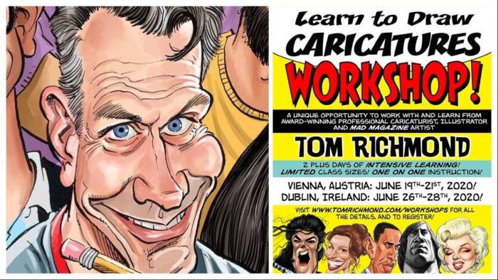 Learn to Draw Caricatures with MAD Magazine cartoonist Tom Richmond