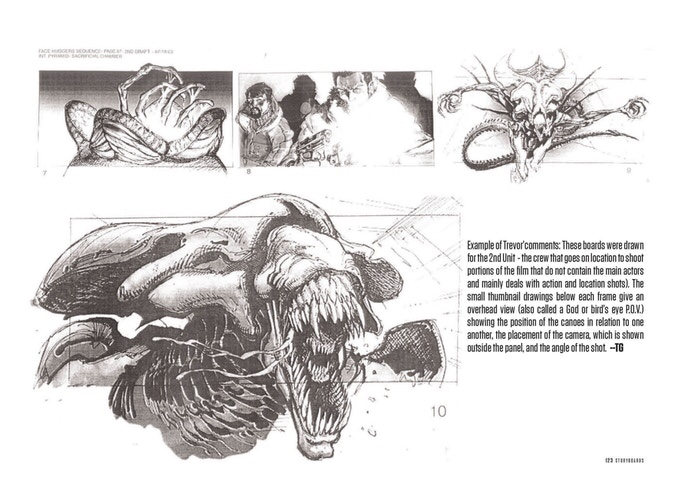 The Unseen Art of Hollywood Storyboards by Trevor Goring - Sample Spread