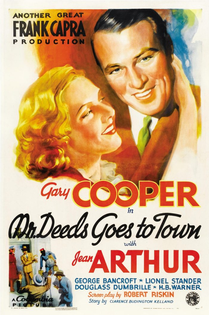 Gary Cooper and Jean Arthur in Mr Deeds Goes to Town, directed by Frank Capra