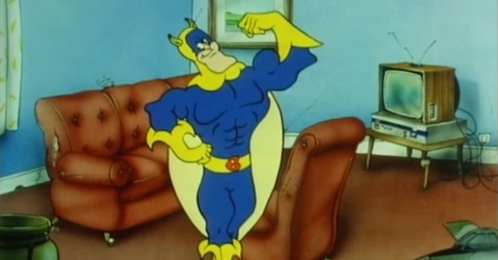 A scene from the Bananaman animated series, now available on Amazon Prime