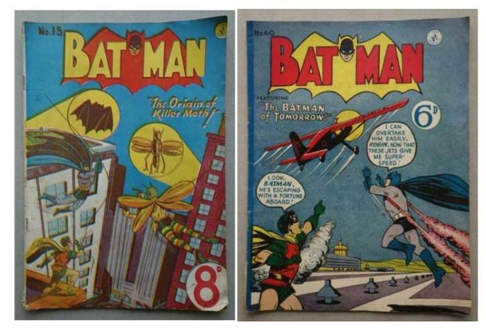 Australian Batman reprints of the 1950s, published by K.G. Murray