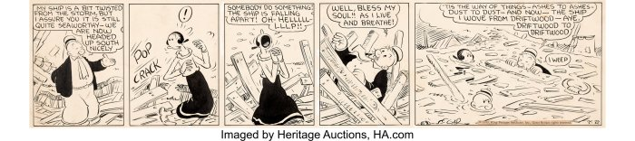E.C. Segar's Thimble Theatre Daily Comic Strip Original Art dated 2nd July 1935 (King Features Syndicate, 1935)