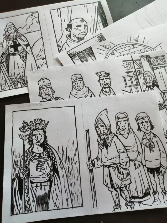 A sneak peek at some of the art by Morgan Gleave for