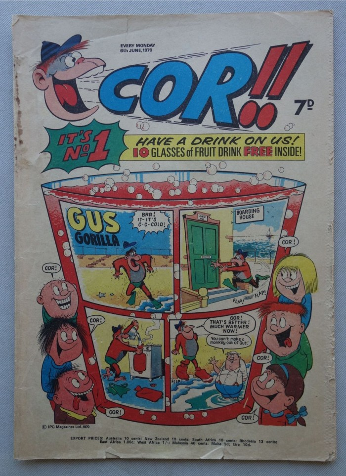 Cor!! Issue One, cover dated 6th June 1970