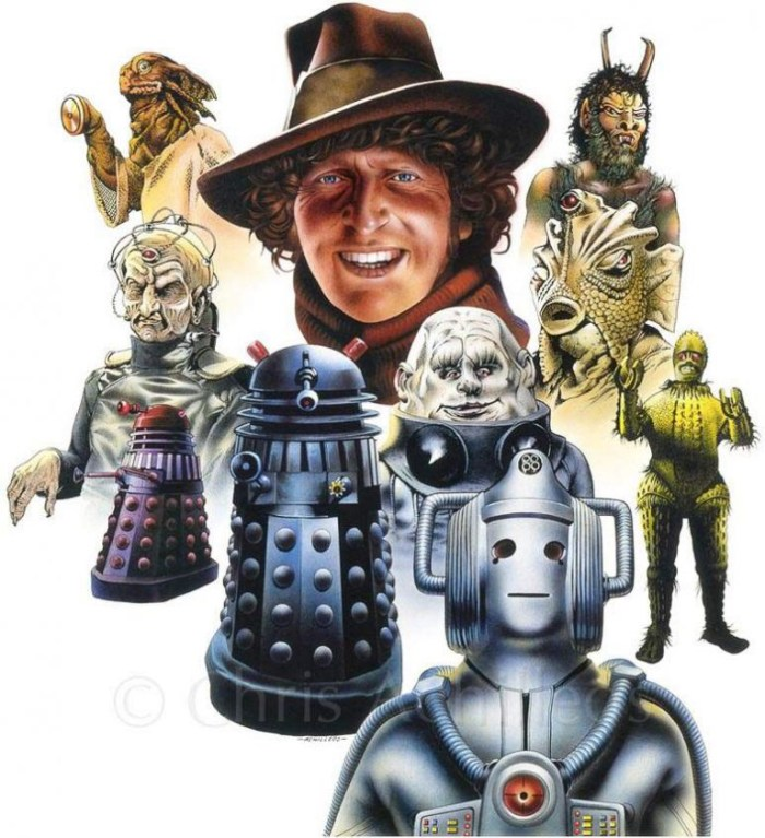 Doctor Who - The Fourth Doctor and Monsters by Chris Achilléos