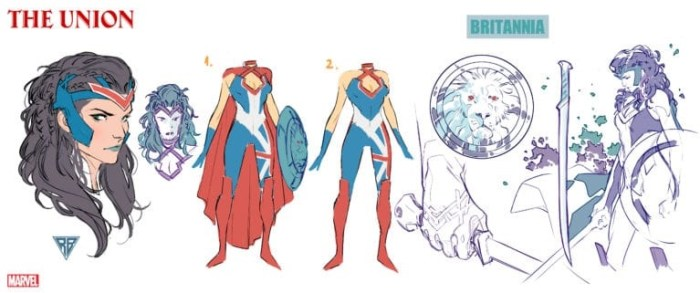 Character design for Marvel Comics The Union's Britannia by R. B. Silva