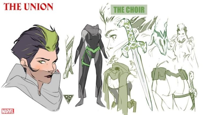 "Character design for Marvel Comics The Union's ""The Choir"" by R. B. Silva"