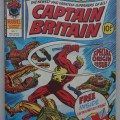 Captain Britain No. 1, cover dated 13th October 1976