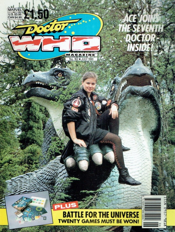 Sophie Aldred as Ace on the cover of Doctor Who Magazine 162, shot at Crystal Palace. Photo by Steve Cook